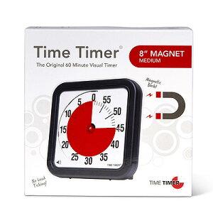 タイムタイマー M <マグネットタイプ> 20cm【送料無料】 TIME TIMER M 8 Magnet アラーム付き 夏休みの宿題に音アリ・音ナシ選べる大きいので見やすい 幼稚園 保育園にもオススメ※配送先、沖縄