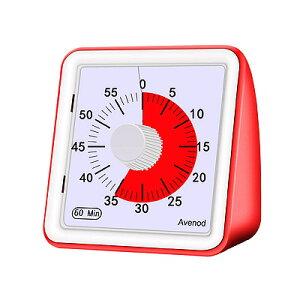 Avenod 60 タイマー レッド TIMER送料無料 時間の経過が一目で分かる アラーム付き アスペルガー PDD ADHD幼稚園 保育園 学童保育にもオススメ※電池別売り※配送先、沖縄・九州・北海道・離島の