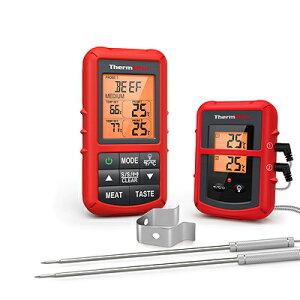 デジタル湿度計 TP-20C ThermoPro TP20C レッド デュアルプローブ付きデジタルキッチン調理温度計【送料無料】【訳あり 箱壊れ】英語説明書リモートデジタル料理用温度計※電池別売り※配送先