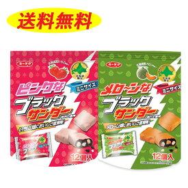 メロ〜ンなブラックサンダー メロン味 1袋 と ピンクなブラックサンダー イチゴ味 1袋 の 計2袋セット 送料無料