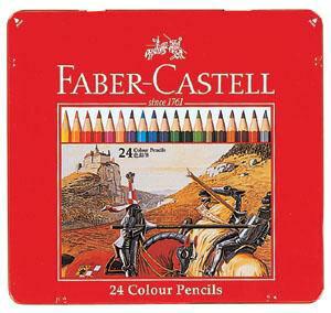 【送料無料!】【メール便】シヤチハタ ファーバーカステル 色鉛筆 24色 TFC-CP/24C確かな品質、描き心地なめらかな色鉛筆24色