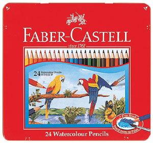 【文具館】【メール便】シヤチハタ ファーバーカステル 水彩色鉛筆 24色 TFC-WCP/24C水彩画スケッチを楽しむ、水彩色鉛筆24色