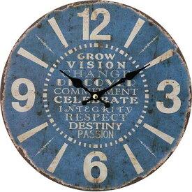 【送料無料!】不二貿易 アンティークウォールクロック BL おしゃれなアンティーク掛け時計