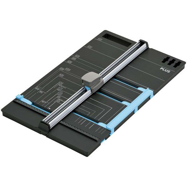 【送料無料!】【文具館】プラス スライドカッター ハンブンコA3 PK-811紙が簡単に半分の位置で切れる。Wゲージを搭載した断裁機。