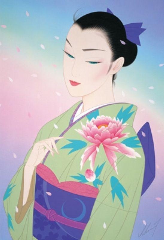 ◆希少品◆300ピースジグソーパズル『晴れ着姿(鶴田一郎)』《廃番商品》