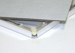 台紙と透明フィルムカバー※画像はイメージです。フレームカラーやサイズはそれぞれ異なります。
