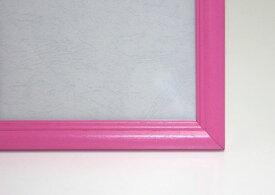 ジグソーパズル用木製フレーム 木製パネル 38×53cm(5-B)ピンク