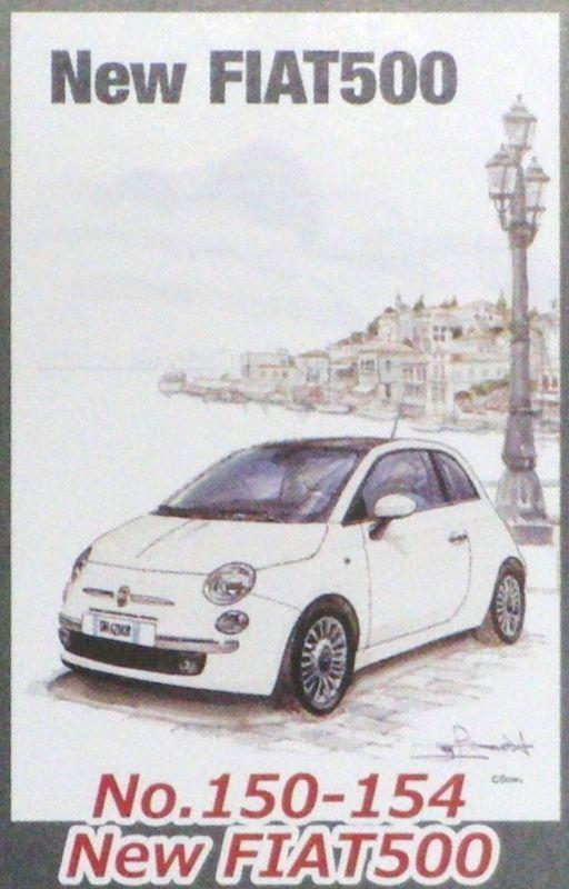 ミニパズル150ピース New FIAT500(BOW。) 《廃番商品》