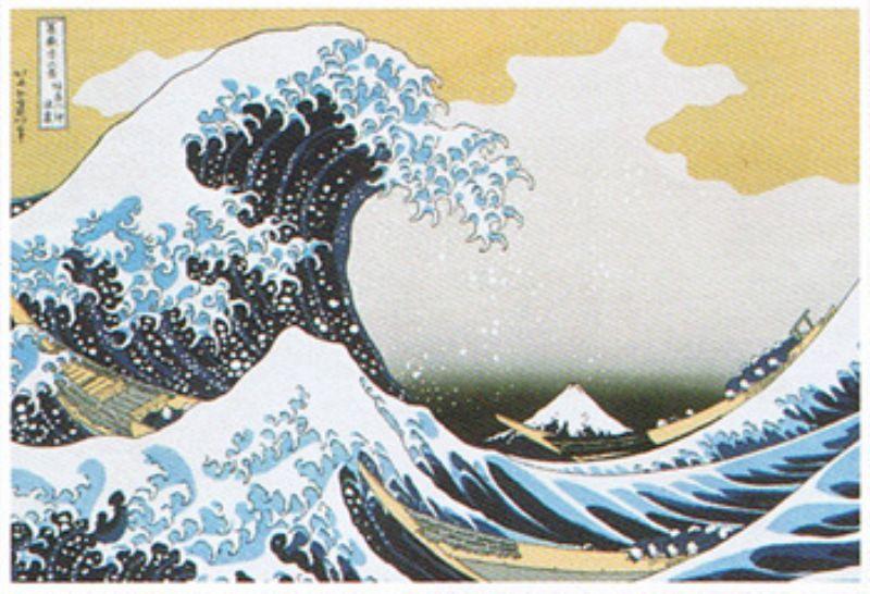 ◆希少品◆タンブラー付きミニパズル150ピース『日本画 神奈川沖浪裏(葛飾北斎)』《廃番商品》