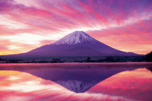 パズルの達人 達人検定2級 1500ピース 日本風景 紅の逆さ富士-山梨 14-503