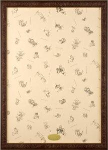 ジグソーパズル用フレーム ディズニーアートフィギュアパネル1000ピース用ブラウン(51×73.5cm/10-T)