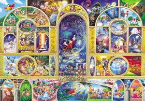 【引上品】ステンドアート560ピースジグソーパズル ディズニーオールキャラクタードリーム 《廃番商品》