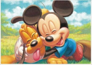 ステンドアート266スモールピースジグソーパズル ミッキーマウス&プルート 《廃番商品》