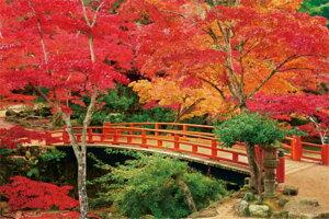 1000ピース 日本の風景 宮島紅葉谷公園 -木々燃ゆる- 10-1223