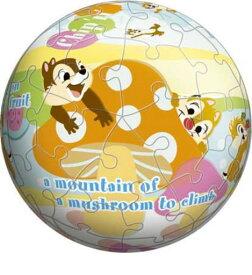 【引上品:ケースにひびあり】3D球体60ピースジグソーパズル チップとデール・楽しい遊び 《廃番商品》