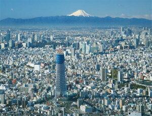 ジグソーパズルプチ2 500ピース 東京スカイツリー 富士を望む 41-46