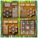 組子細工 キット ウインターセール kumiko kit 組子コースター組立キット 4種類セット プレゼント ギフト対応 建具の…