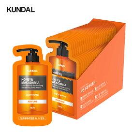 [KUNDAL公式]ピュアボディーソープシングルパウチ10ml30個入りセット Pure Body Wash Single Pouch 10ml 30ea SETアロエベラ葉エキス42%配合・ココナツ由来界面活性剤・pH5.5弱酸性・ 無!パラベン・ベンゾフェノン・CMIT/MIT