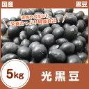 【黒豆】【黒豆茶】光黒豆 5kg(1kg×5袋)28年 秋 収穫 北海道産【国産】