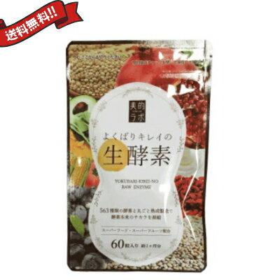 【ポイント5倍】【送料無料】 お得な3袋セット よくばりキレイの生酵素 60粒 メール便
