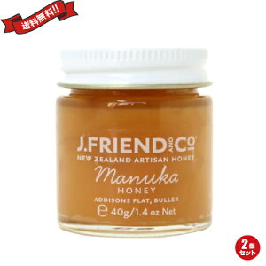 【ポイント6倍】最大33倍!蜂蜜 はちみつ ハチミツ J.Friend マヌカハニー 40g 2個