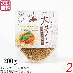 大豆ミート 国産 ミンチ 北海道産大豆のミート 200g 2個セット 送料無料