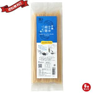 【2000円クーポン】最大30倍!ライスヌードル グルテンフリー 平麺 玄米細麺パッタイ150g 6個セット