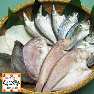 【送料無料】【鮮度抜群CAS冷凍品】【天然魚】宇和海朝獲れ鮮魚の「一夜干し13枚セット」(真鯛1枚、メイタカレイ2枚、アマダイ2枚、カマス3枚、釣アジ3枚、スミイカ2枚)
