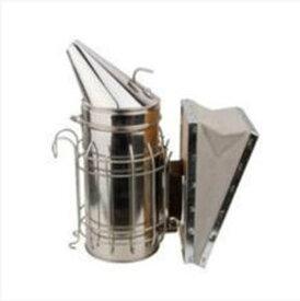 高級 ステンレス製 燻煙器 噴霧器 ビー バイブ スモーカー 蜜蜂用 養蜂場 牛革使用じゃばら部分 【送料無料】tno-a51