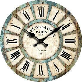 壁掛け 時計 ウォール クロック レトロ アンティーク 西海岸 北欧風 マリン 大理石 ウッド カラフル 木製 直径30cm 大理石 【送料無料】tno-a67
