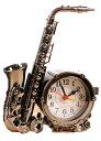 サックス風 目覚まし時計 置時計 お洒落 クラシック デザイン インテリア に サックスA 【送料無料】tno-b60