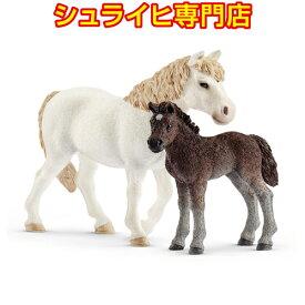 【シュライヒ専門店】シュライヒ ポニーの親子 42423 動物フィギュア ファームワールド FARM WORLD 馬 ウマ horses schleich