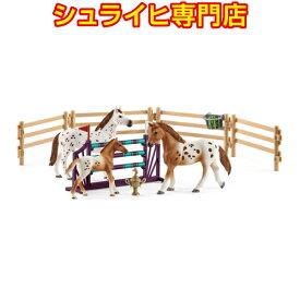 【シュライヒ専門店】シュライヒ アパルーサ馬のトレーニングセット 42433 動物フィギュア ファームワールド FARM WORLD 馬 ウマ horses schleich