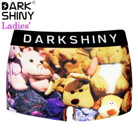 DARK SHINY YELLOW LABEL ダークシャイニー レディースボクサーパンツ STUFFED ANIMALS YLLB14
