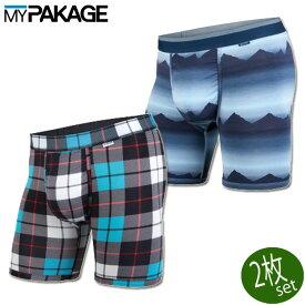 MY PAKAGE マイパッケージ BN3TH ベニス ロングボクサーパンツ WEEKDAY PRINT x PRINT 2PACK MPWDP_V