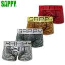 SAPPY サピー ローライズボクサーパンツ 柄ブロック D-515