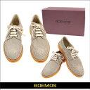 【送料無料】 ボエモス BOEMOS メンズ シューズ 靴 ウィングチップ スエード レザー グレージュ サイズ:40/41/42 (boemos-427020...