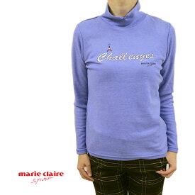 【30%オフセール 】 marie claire マリクレール マリクレ マリークレール レディース プルオーバー 長そで ハイネック 吸湿発熱 ホワイト(白)/サックス/グレー サイズ:M/L (marie_w16aw01)