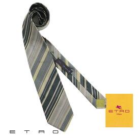 【送料無料】 ETRO エトロ メンズ ネクタイ タイ シルク グリーン レジメンタル ストライプ Necktie プレゼント ギフト MADE IN ITALY (tie-ez4090215) 【smtb-k】【kb】