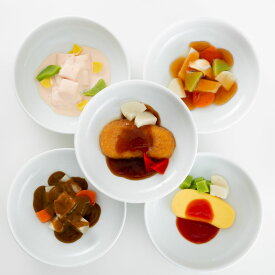 しあわせのムース食(洋食5種セット)|舌でつぶせる固さのおいしい介護食|藏マルシェ(楽デリシリーズ)