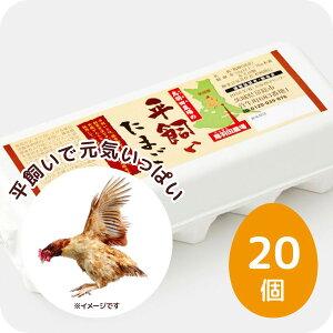 メディアでも紹介 朝採れ新鮮 平飼い卵 鳥羽田農場の平飼いたまご 20個(MSサイズ〜LLサイズ)