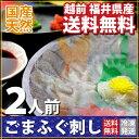 【送料無料】 国産天然ごまフグ ふぐ刺し2人前(約60g) 福井県産(お届け:冷凍)