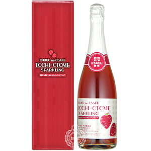 苺のお酒 とちおとめスパークリング いちごリキュール 外池酒造店 720ml瓶【箱入り】【スパークリングリキュール】