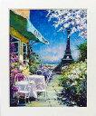 「パリのカフェ Lサイズ」マルコ マヴロヴィッチ・風景画アートポスター[絵画通販]【壁掛けフック付き】【絵のある暮らし】