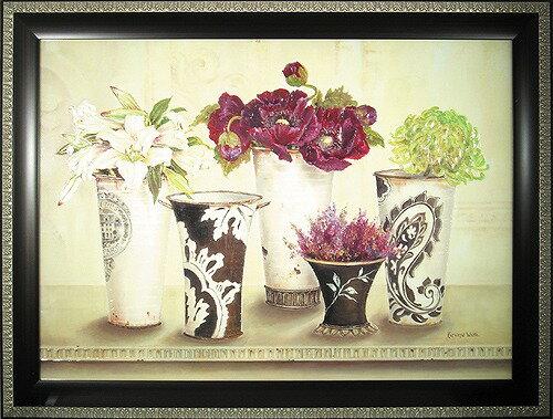 【送料無料】「ピオニー エレガンス」キャサリン ホワイト ・花(静物)アートポスター[絵画通販]【壁掛けフック付き】【絵のある暮らし】