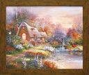 「カントリー クワイエット」 ジェームス リー 風景画アートポスター ゲル加工絵画作品[絵画通販]【壁掛けフック付き】【絵のある…