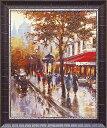 「シャンゼリゼ通り1」 ブレント ヘイトン 風景画アートポスター ゲル加工絵画作品[絵画通販]【壁掛けフック付き】【絵のある暮ら…
