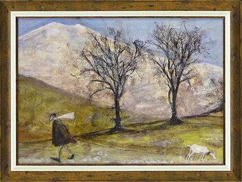 【送料無料】「マンスフィールドをゆく」サムトフト 可愛い雰囲気の特殊ゲル加工アート[絵画通販]【壁掛けフック付き】【絵のある暮らし】
