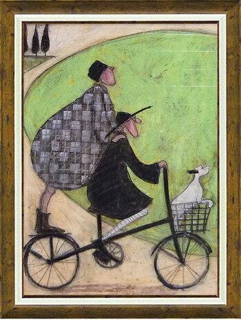 【送料無料】「二人乗り」サムトフト 可愛い雰囲気の特殊ゲル加工アート[絵画通販]【壁掛けフック付き】【絵のある暮らし】