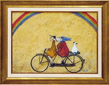 「虹に向かって」サムトフト・可愛い雰囲気の特殊ゲル加工アート[絵画通販]【壁掛けフック付き】【絵のある暮らし】